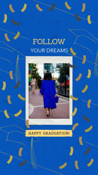 Festive Instagram Story Template for a Graduation Ceremony 2430y