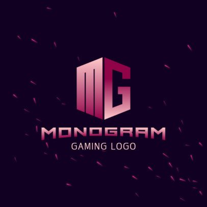 Logo Maker for Gamers Featuring a Monogram With a Gradient Effect 3148