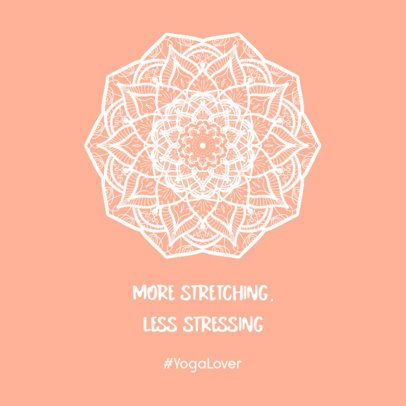 Instagram Post Creator with a Yoga-Related Quote 742c-el1