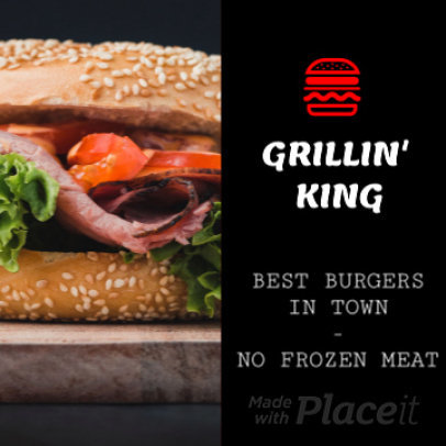 Instagram Video Maker for a Burger Place Featuring Sliding Animated Transitions 1363
