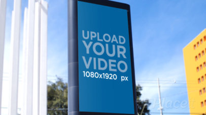 Video of a MUPI Placed on a Calm Street 32962