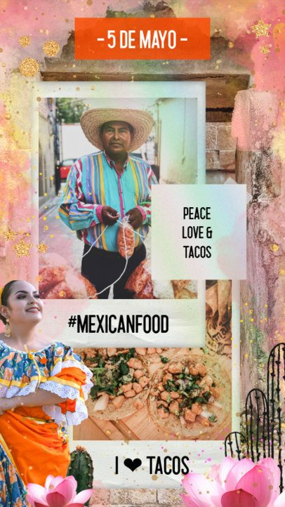 Instagram Story Creator for a 5 de Mayo Food Recommendation 2436b