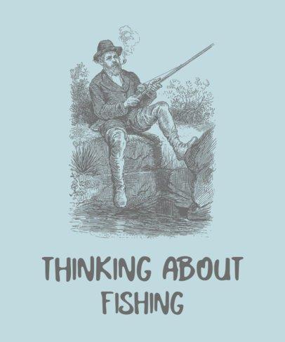 T-Shirt Design Creator with a Vintage Fisherman Drawing 756b-el1