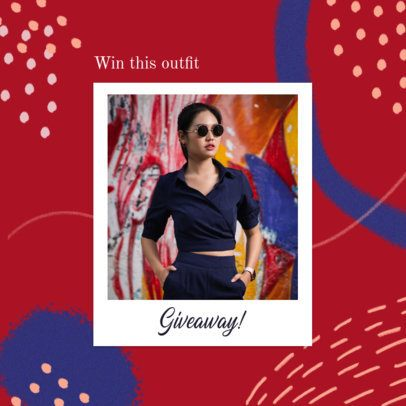 Fun Abstract Instagram Post Template for a Giveaway Announcement 2439j