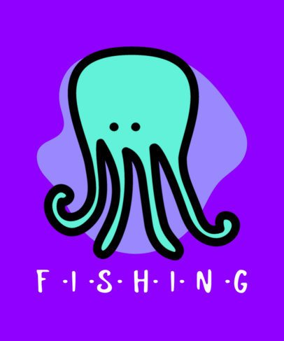 T-Shirt Design Generator with an Octopus Doodle 754b-el1