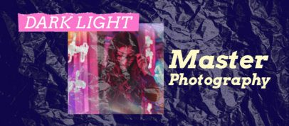 Facebook Cover Template for Photographers With a Plastic Wrap Texture 2443a