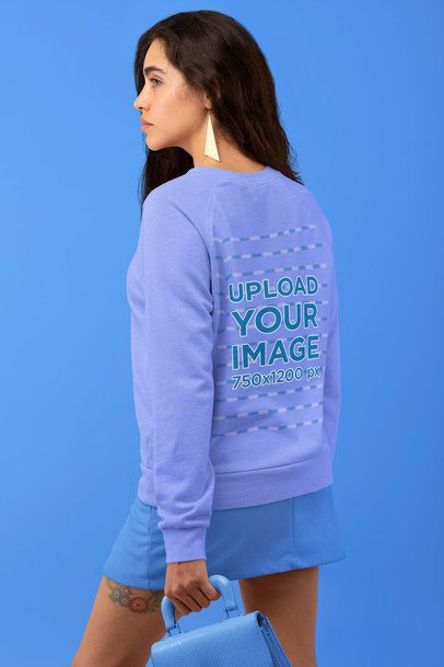 Sweatshirt Mockup of a Woman with a Monochromatic Vintage Look 32826