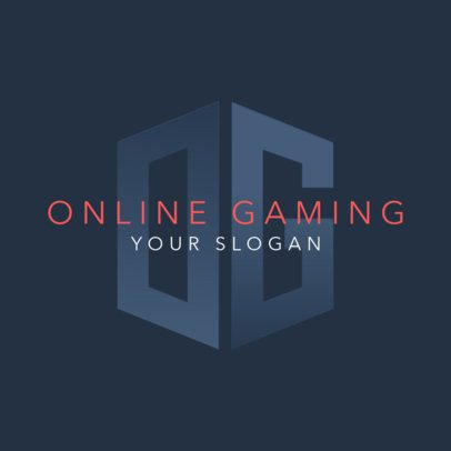 Online Gaming Logo Generator with a Monogram Graphic 3147d