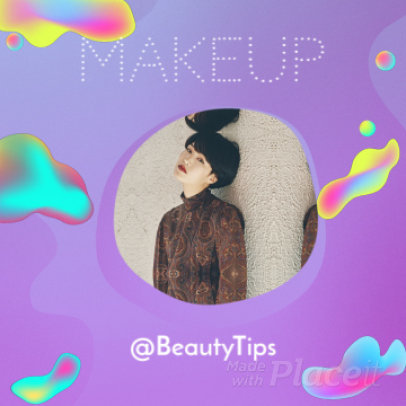 Instagram Video Maker for Beauty Influencers Featuring Cool Fluid Graphics and Text Animations 1567