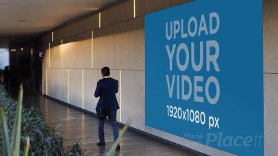 Video Featuring a Billboard inside a Mall 32970