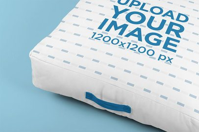 Mockup Featuring a Cushion Placed on a Flat Surface 33401