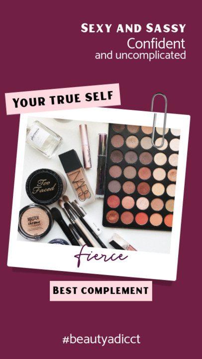 Makeup-Themed Instagram Story Design Template 921b-el1