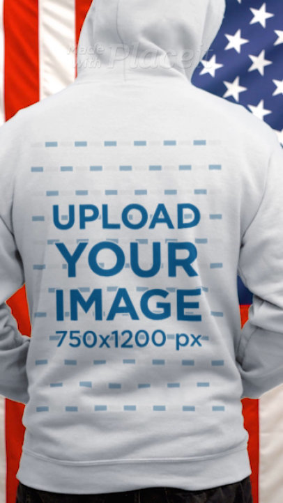 Back-View Video of a Man Wearing a Hoodie on 4th of July 33793