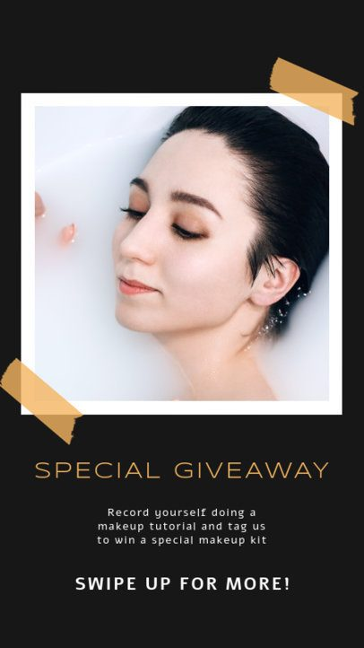Simple Instagram Story Generator for a Makeup Giveaway 929a-el1