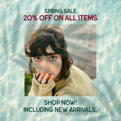 Instagram Post Maker for a Spring Season Discount 2456g