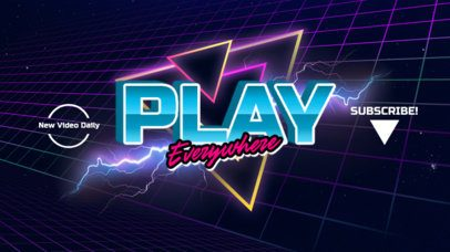 Retro YouTube Banner Maker With a Vaporwave Aesthetic 939-el1