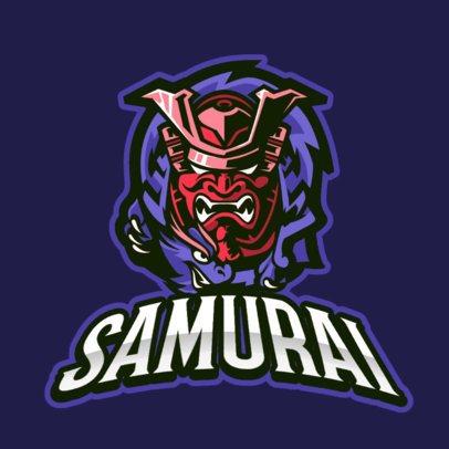 Gaming Logo Template Featuring a Samurai With a Dragon 887a-el1