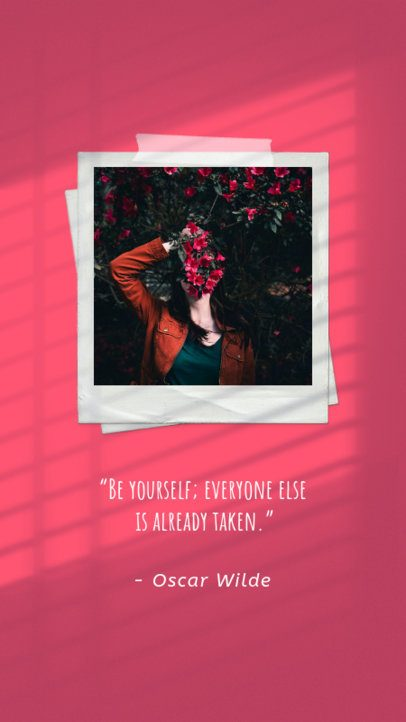 Instagram Story Maker with a Polaroid-Like Picture and a Quote 2455a