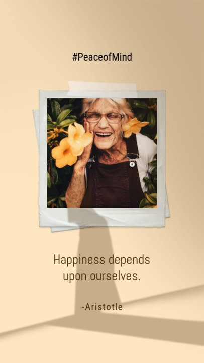 Instagram Story Design Maker Featuring a Happiness Quote 2455y
