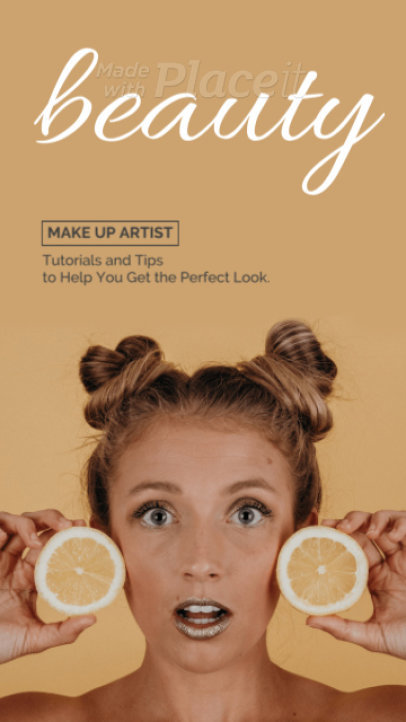 Minimal Instagram Story Video Maker for Makeup Artists 1128-el1