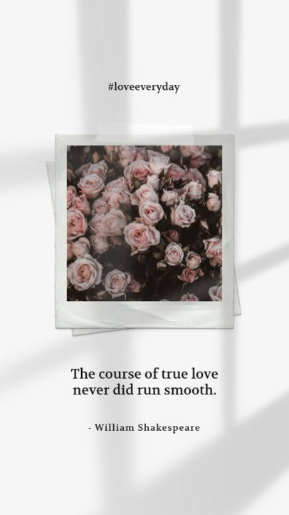 Quote Instagram Story Generator Featuring an Instant Photo 2455z