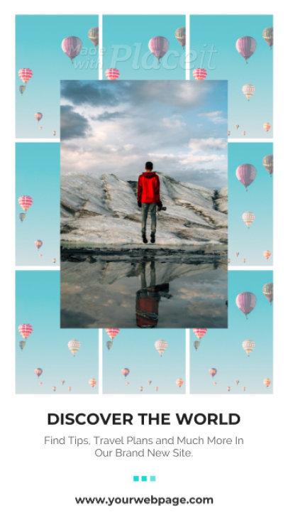 Instagram Story Video Maker for a Travel Blogger Featuring a Tiled Layout 1547-el1