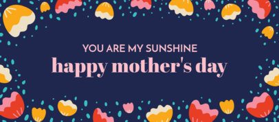 Illustrated Facebook Cover Design Template With a Sweet Mother's Day Quote 2458g