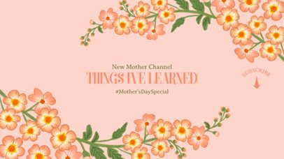 YouTube Banner Maker with Colorful Flowers for a Mom-Focused Channel 2454g