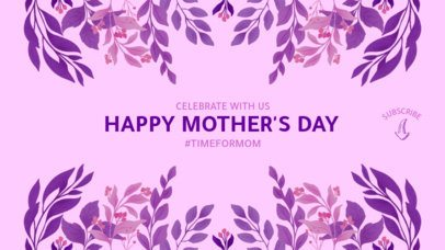 Elegant Mother's Day YouTube Banner Maker with a Floral Design 2454d