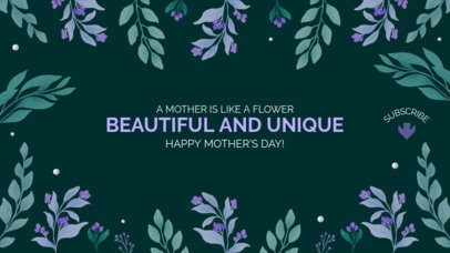 Floral-Themed YouTube Banner Template to Celebrate Mother's Day 2454h