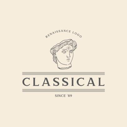 Logo Template Featuring a Renaissance Statue Graphic 3173c