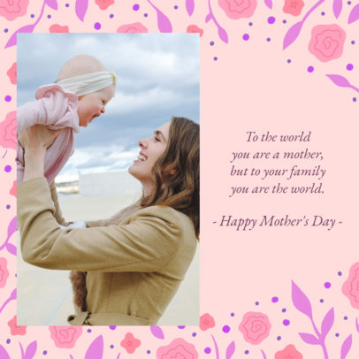 Floral-Themed Instagram Post Maker for a Mother's Day Post 2452c