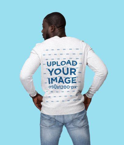 Back View Mockup of a Muscular Man Wearing a Sweatshirt at a Studio1812-el1