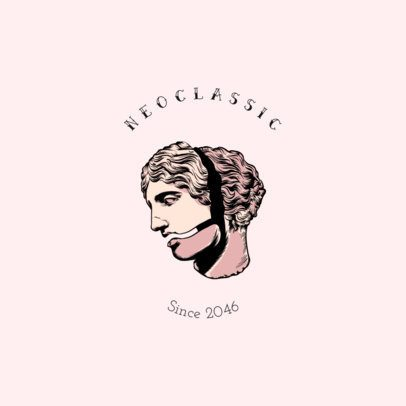 Clothing Brand Logo Creator with a Neoclassic Style 3172d