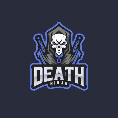 Gaming Logo Creator Featuring a Ninja with a Skull Mask 892a-el1