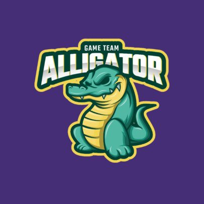 Gaming Logo Maker with an Alligator Character 1021d-el1