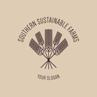 Logo Creator for a Sustainable Farm with Wheat Graphics 3170f