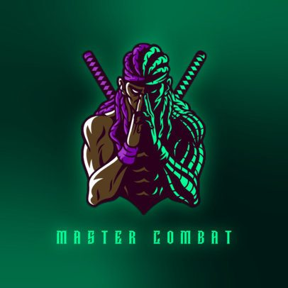Logo Creator for a Gaming Squad with a Braided Combat Master Graphic 3165j