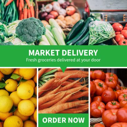 Ad Banner Template Featuring a Market Delivery Offer 1053g 2479