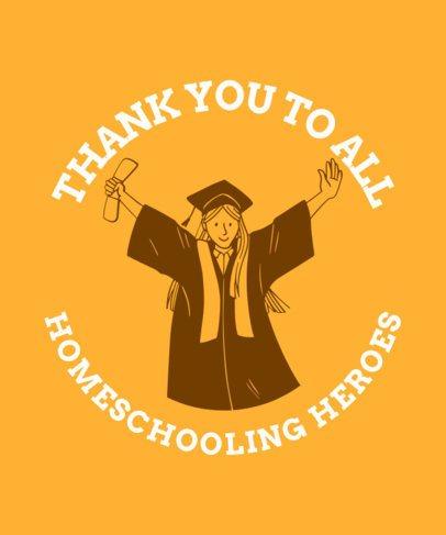 Graduation-Themed T-Shirt Design Maker For Homeschooled Students 2305g 2479