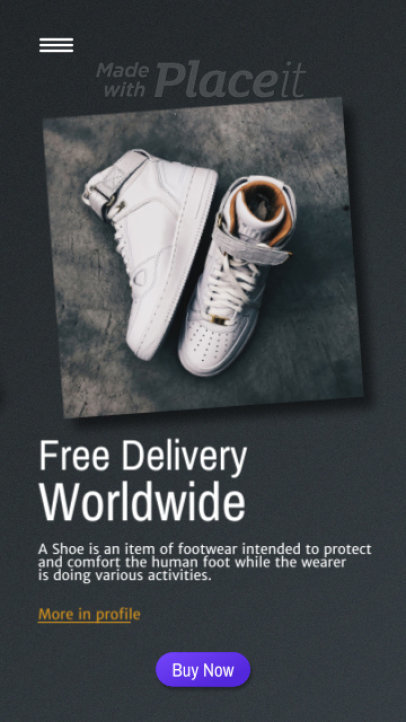 Modern Instagram Story Video Maker for a Footwear Sale 1768-el1