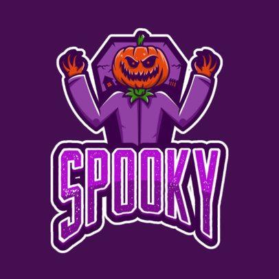 Gaming Logo Creator Featuring a Spooky Pumpkin Character 1049c-el1