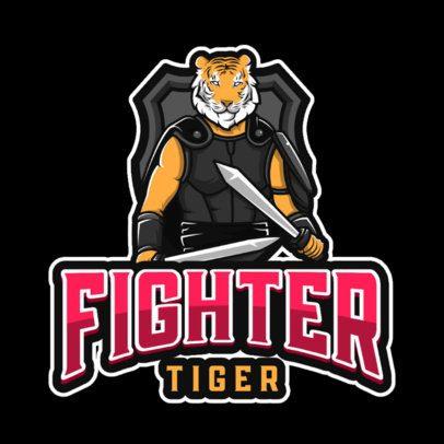 Gaming Logo Maker Featuring a Tiger Warrior Character 1049d-el1