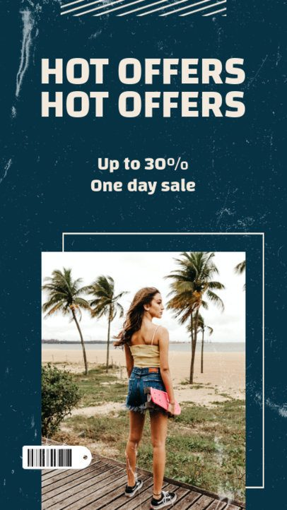 Clothing Brand Instagram Story Maker for a Hot Offers Announcement 973c-el1