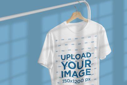 T-Shirt Mockup Featuring Window Shadows 3735-el1