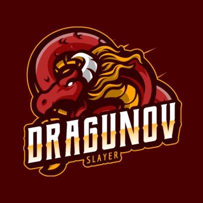 Gaming Logo Maker Featuring Dragon and Ninja Graphics 1069-el1