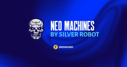Twitch Banner Design Maker Featuring a Killer Robot Character 2469t