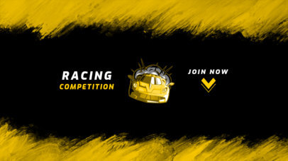 YouTube Banner Design Template for a Car Racing Game Competition 2470a