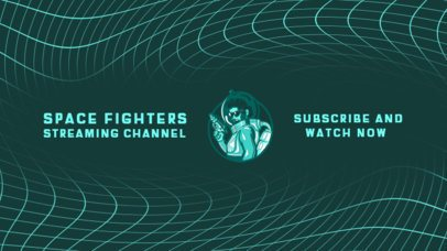 Fun YouTube Banner Creator for a Space-Themed Gaming Channel 2470c