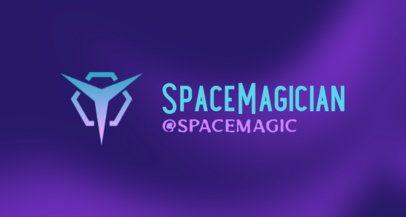 Minimalist Twitch Banner Maker with a Futuristic Emblem 2469v